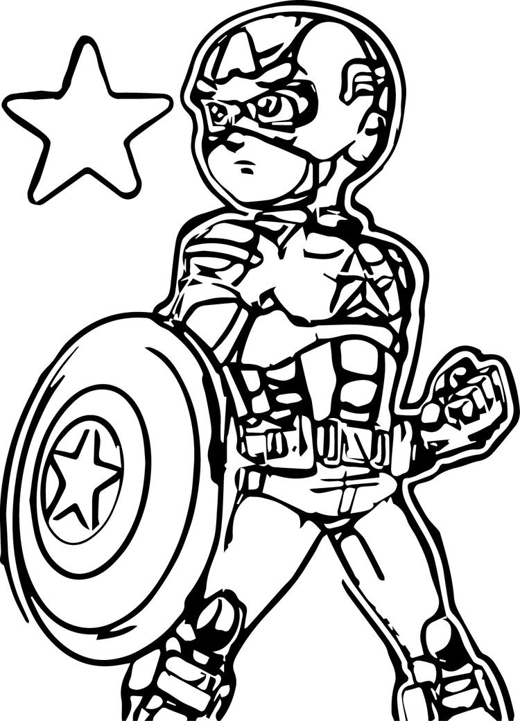 Captain America Kids Coloring Pages