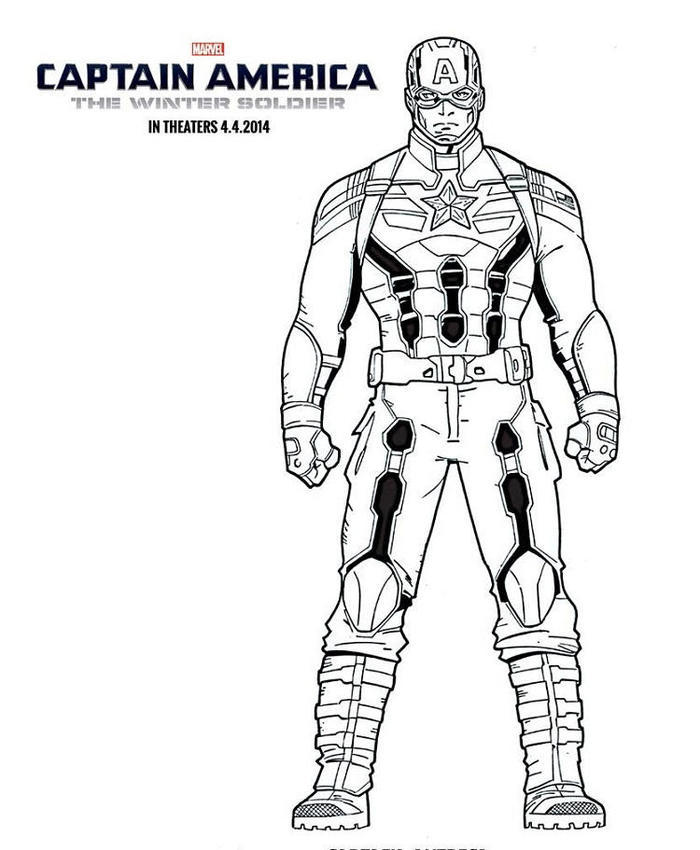 Captain America The Winter Soldier Coloring Pages