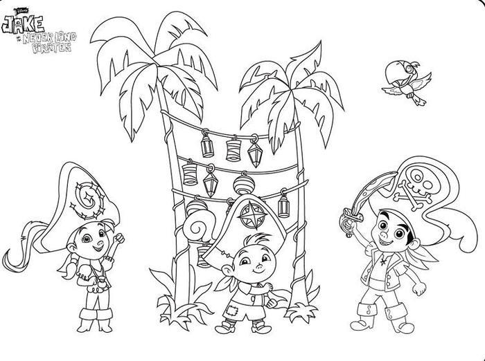 Captain Jake And The Neverland Pirate Coloring Pages
