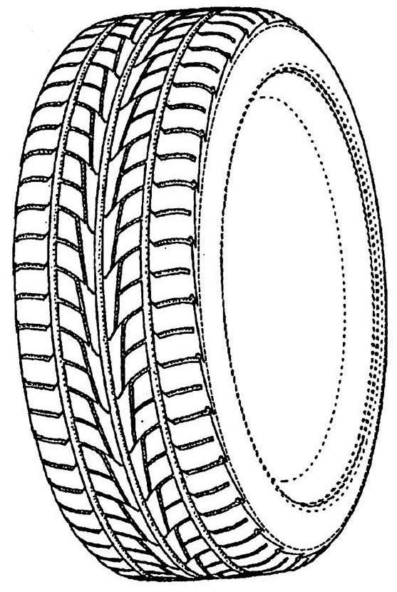 Car Tire Wheel Parts Of Auto Coloring Pages