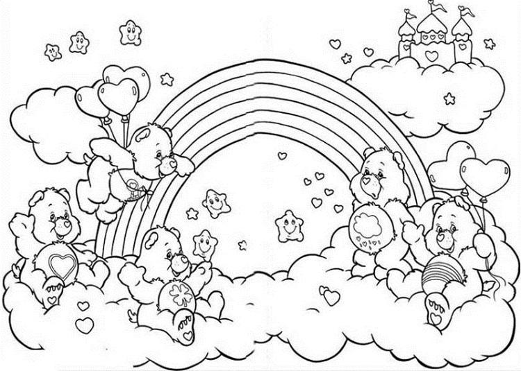 Care Bear Rainbow Coloring Pages