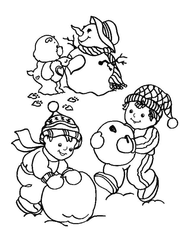 Care Bear Snowman Coloring Pages