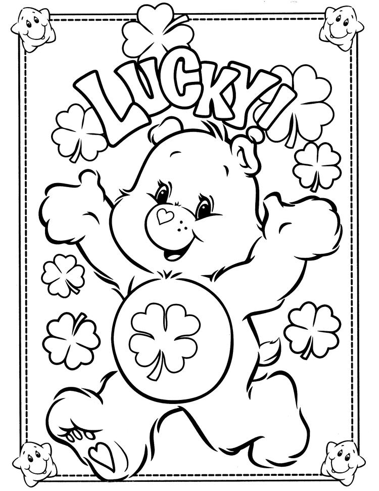 Care Bears Coloring Pages Good Luck