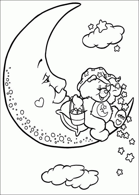 Care Bears Coloring Pages On The Moon