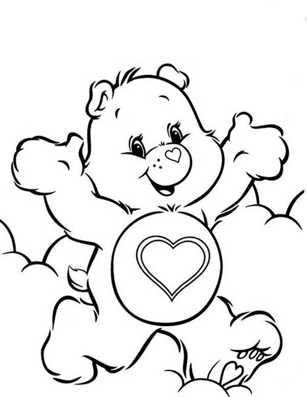 Care Bears Coloring Pages Tenderheart