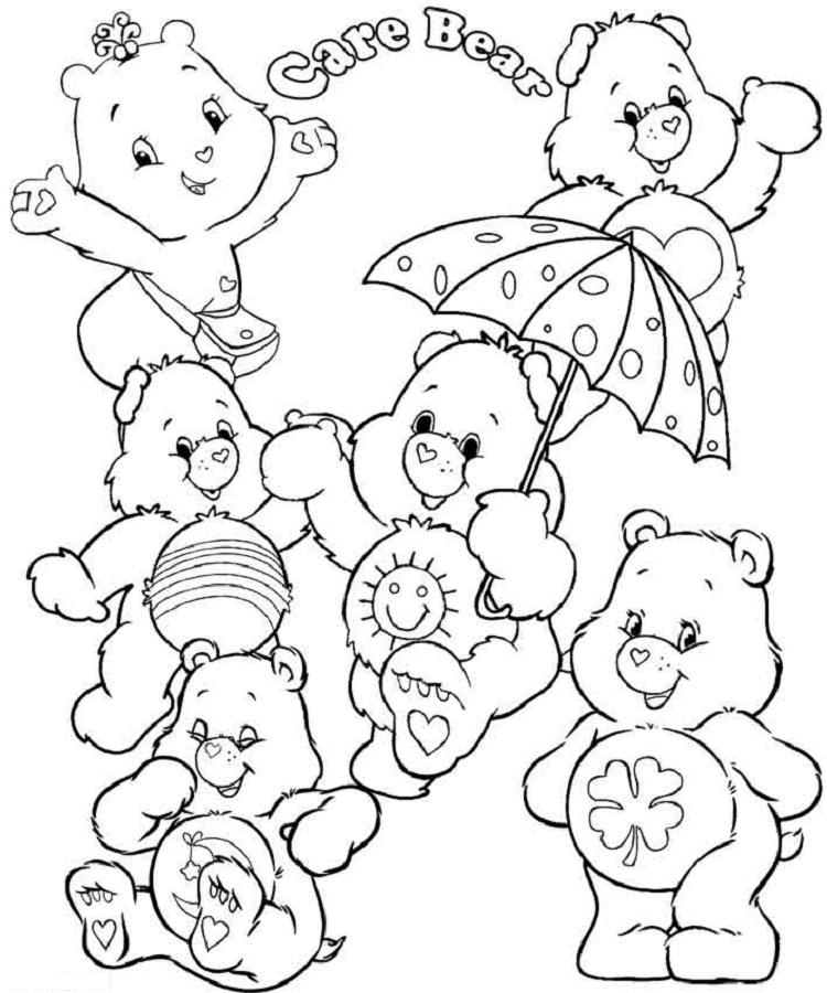 Care Bears Coloring Pages To Print Out
