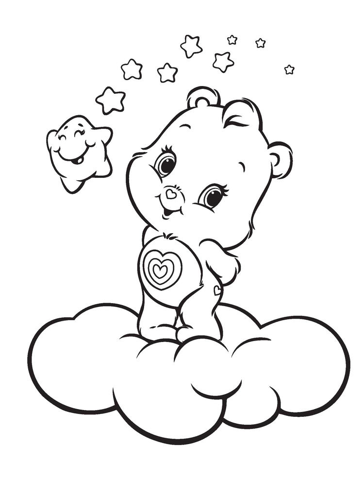 Care Bears Coloring Pages Wonderheart Bear