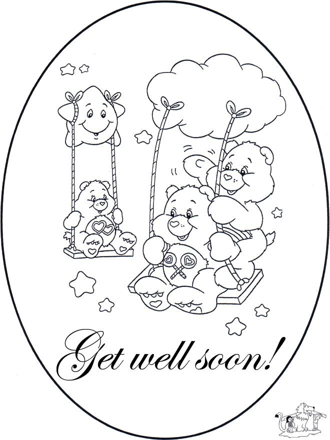 Care Bears Get Well Soon Coloring Pages