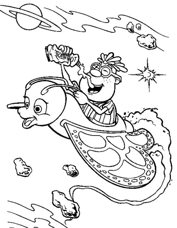 Carl In Jimmy Neutron Fantasy World Coloring Pages