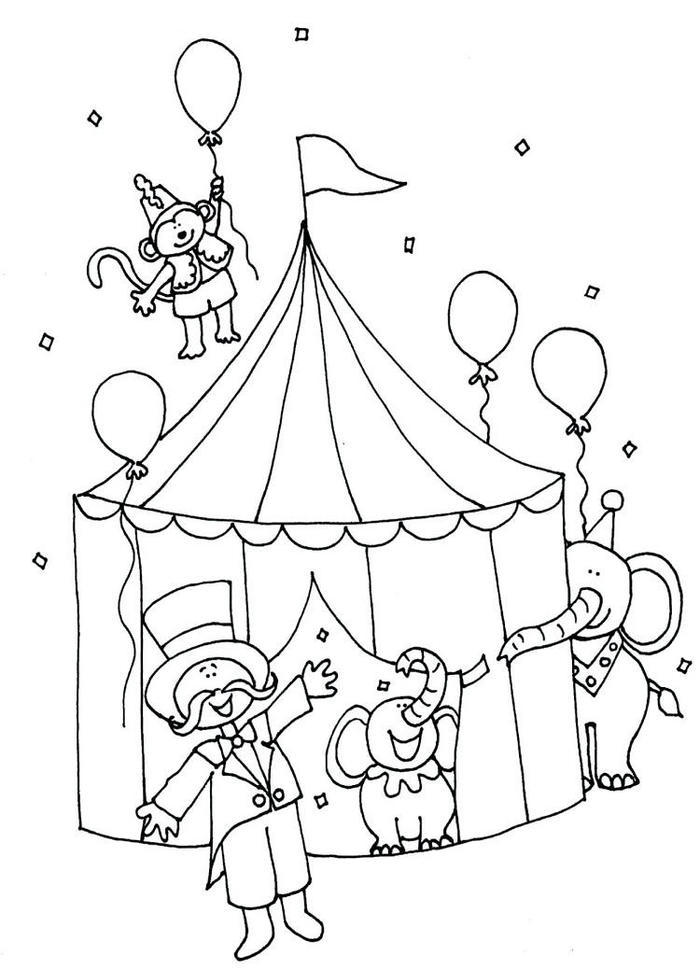 Carnival Coloring Pages For Preschool