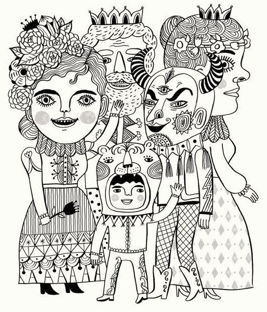 Carnival Costumes Coloring Pages