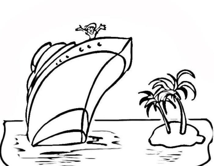 Carnival Cruise Coloring Pages