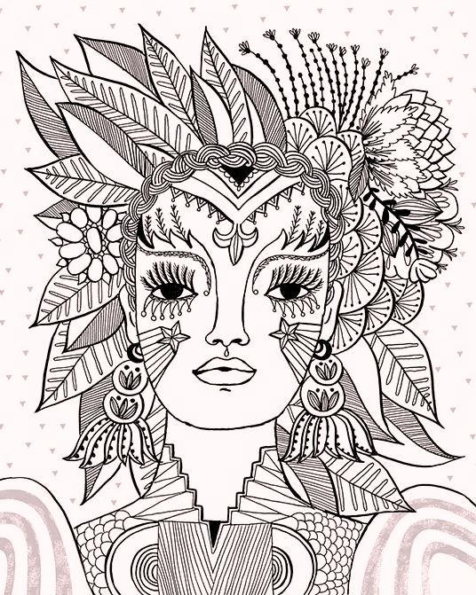 Carnival Flora Themed Coloring Pages Coloring Ideas