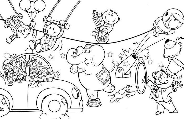 Carnival Of The Animal Coloring Pages Free