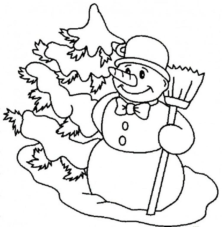 Carrot Nose Snowman Coloring Pages