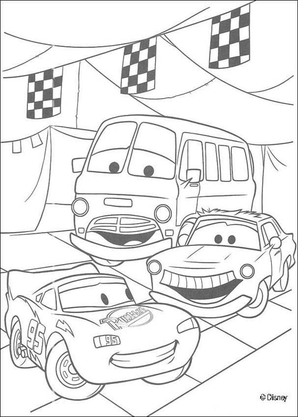 Cars Disney Coloring Pages For Boys