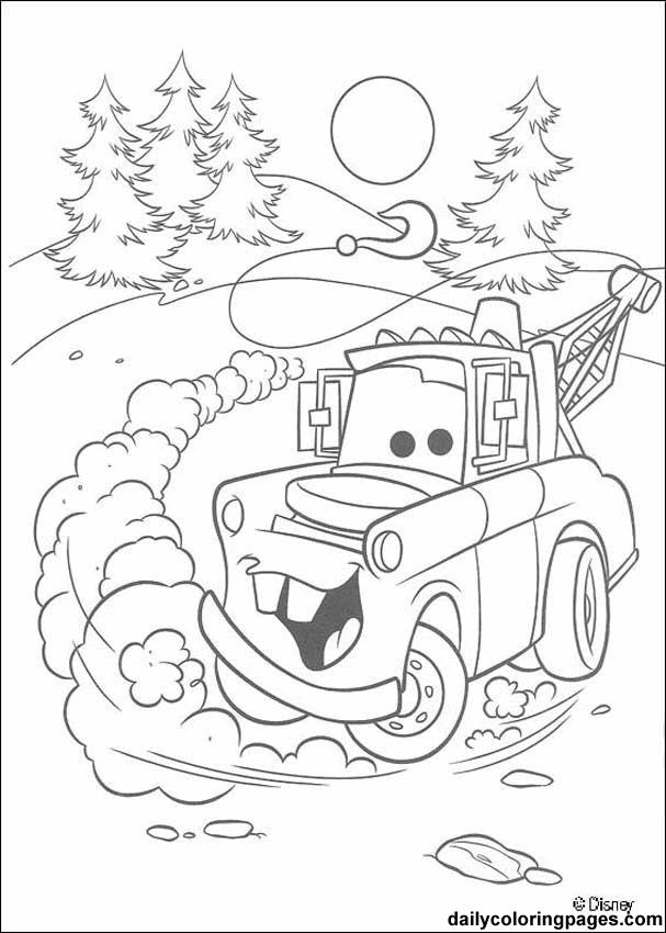 Cars Movie Disney Coloring Sheets