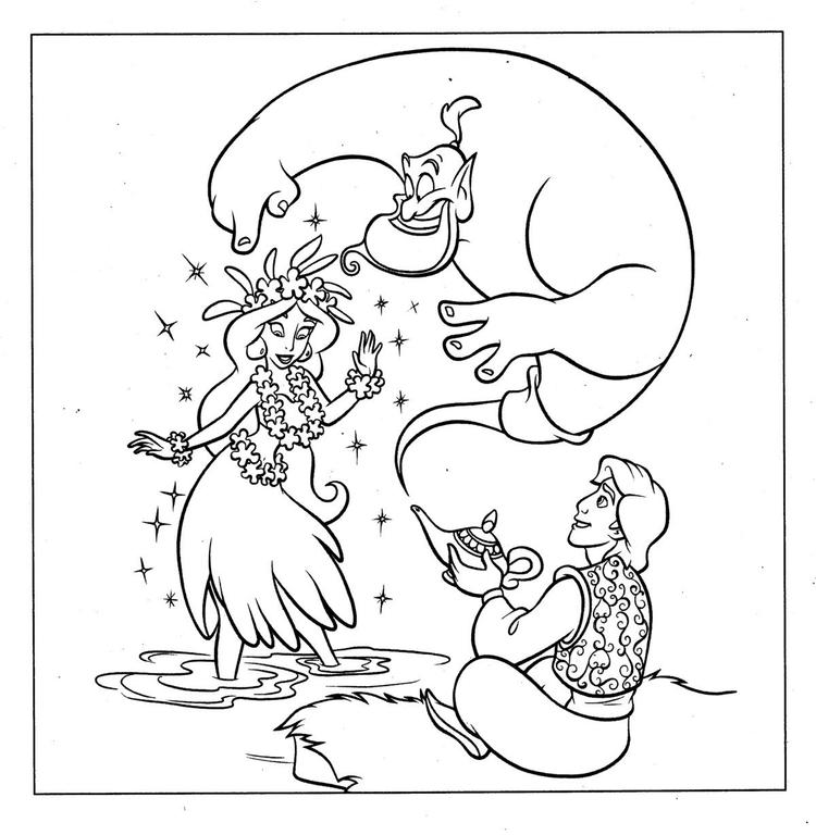Cartoon Aladdin Coloring Pages