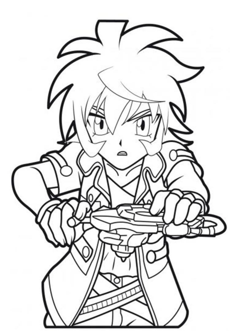Cartoon Beyblade Coloring Pages
