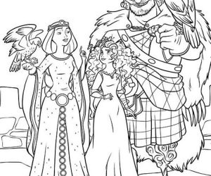 Cartoon brave coloring pages