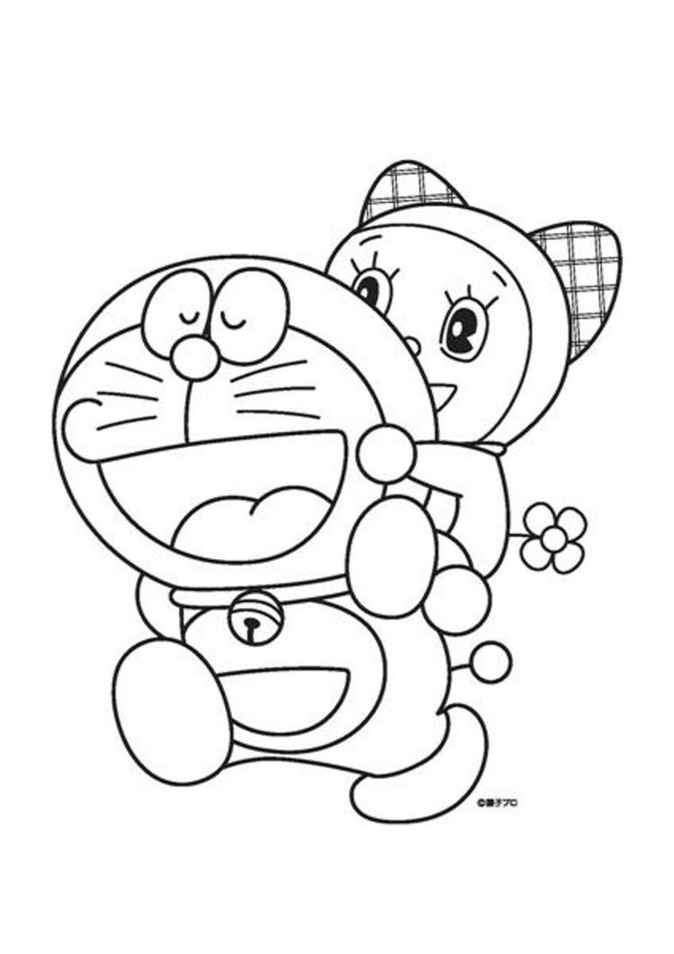 Cartoon coloring pages doraemon for kids