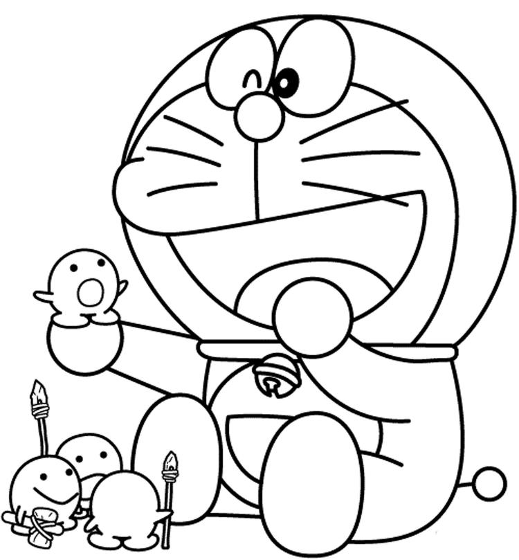 Cartoon Coloring Pages Doraemon Free Printable1