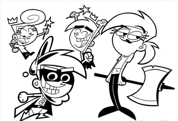 Cartoon Coloring Pages Fairy Odd Parents Characters
