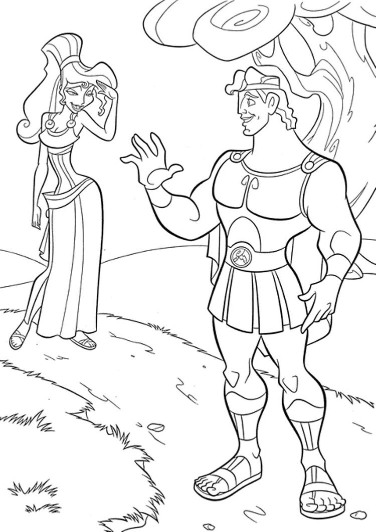 Cartoon Coloring Pages Free Hercules