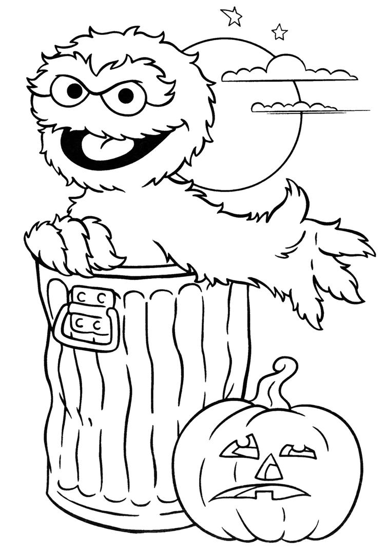 Cartoon Coloring Pages Halloween