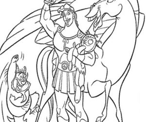 Cartoon coloring pages hercules printable