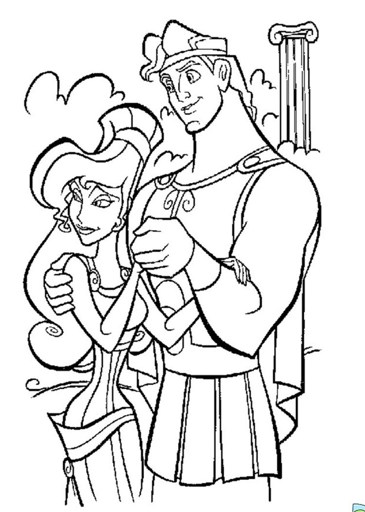 Cartoon Coloring Pages Hercules