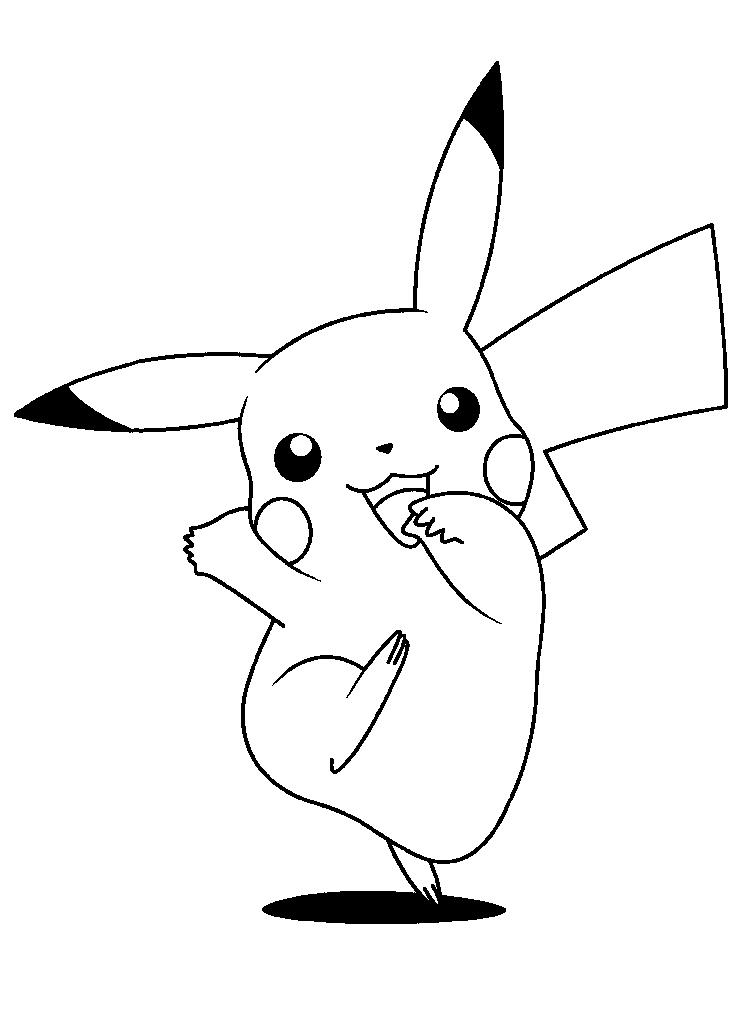 Cartoon Coloring Pages Pokemon Pikachu