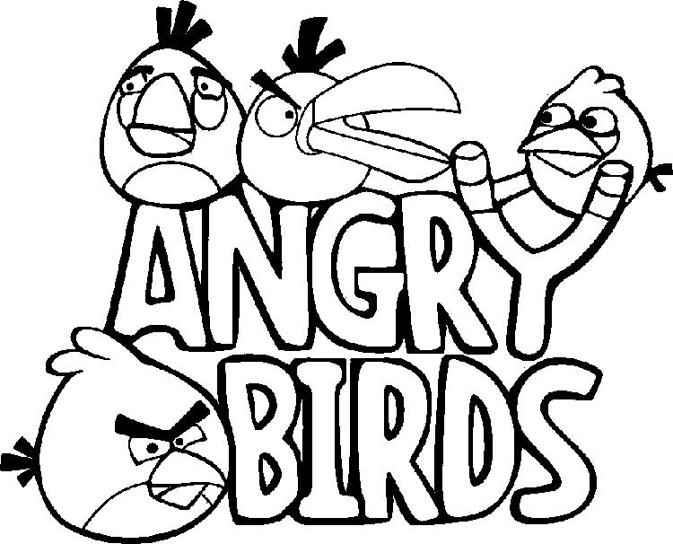 Cartoon Coloring Pages Printable Angry Birds