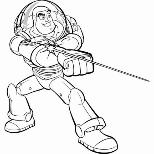 Cartoon Coloring Pages Printable Toy Story Buzz