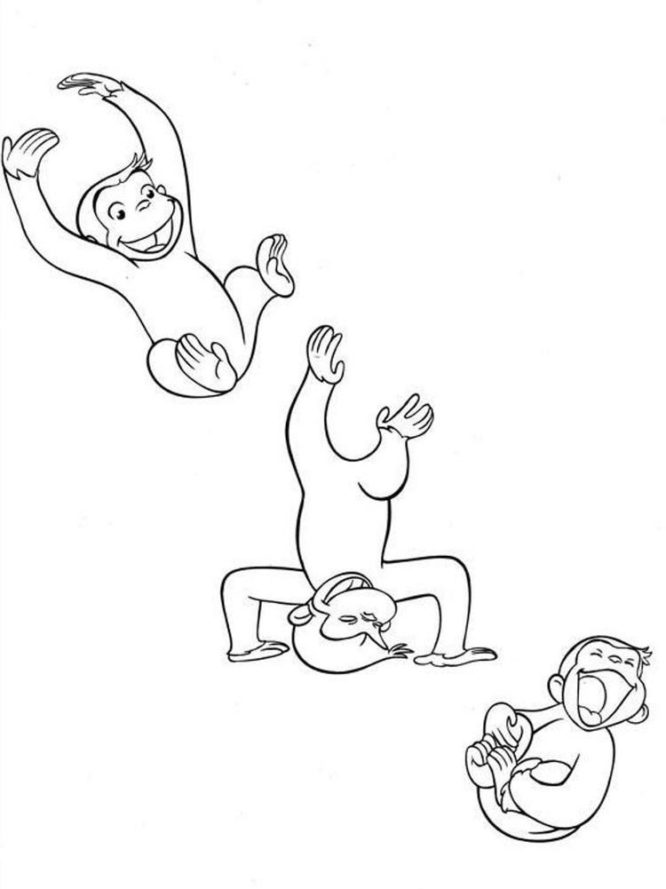 Cartoon Curious George Coloring Pages
