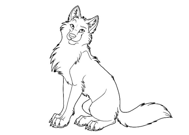 Cartoon Cute Wolf Coloring Pages1