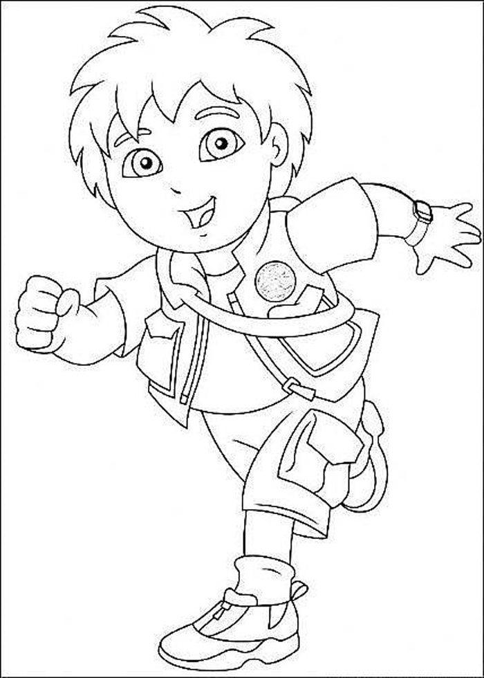 Cartoon Diego Coloring Pages For Kids