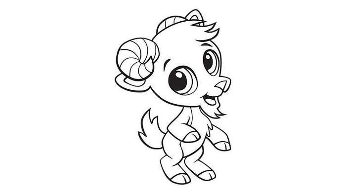 Cartoon Goat Coloring Pages
