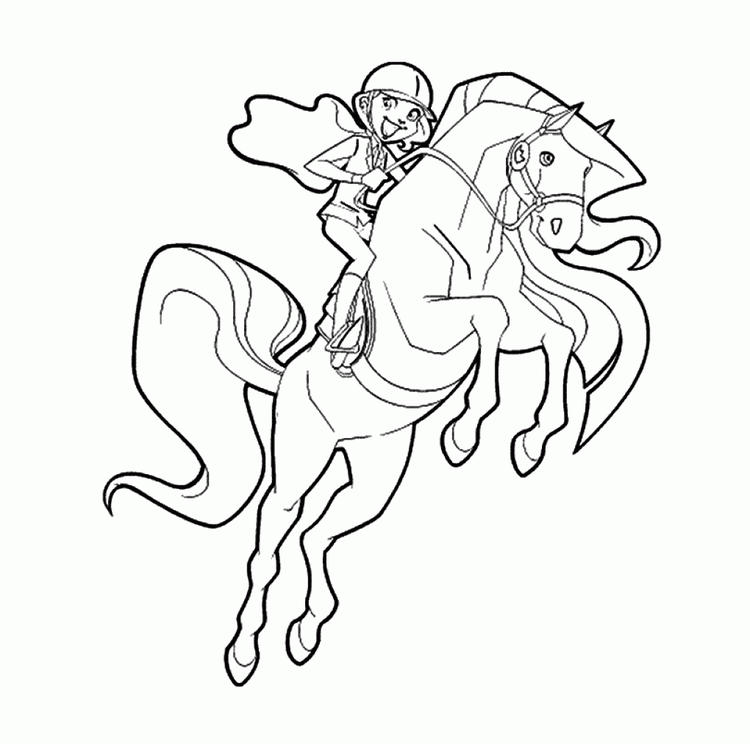 Cartoon Horse Coloring Pages For Girls Free