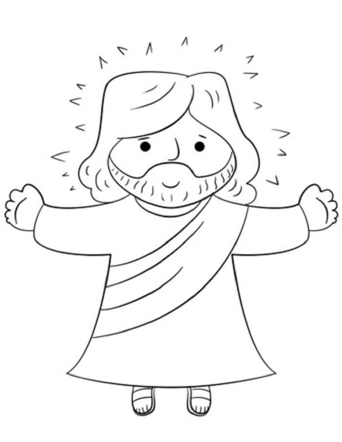 Cartoon Jesus Coloring Pages