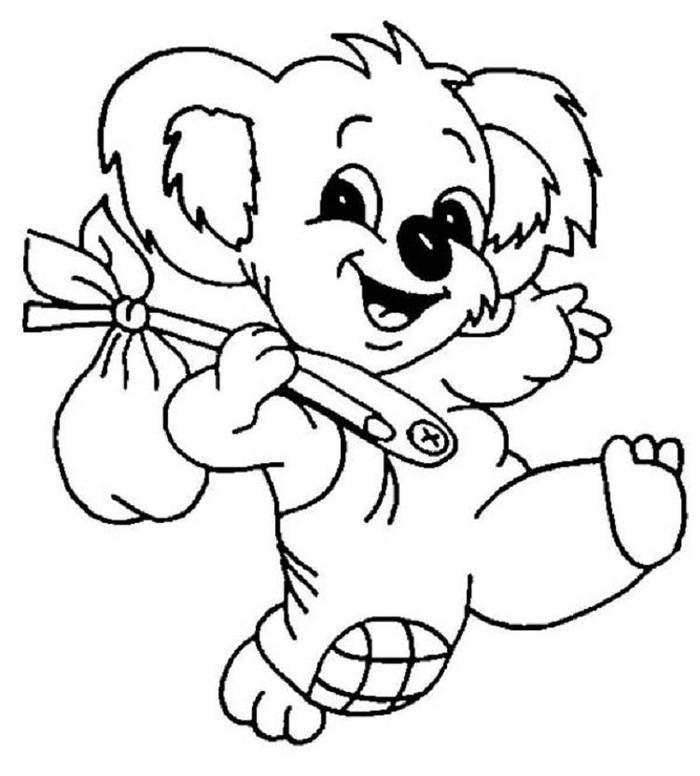 Cartoon Koala Coloring Pages