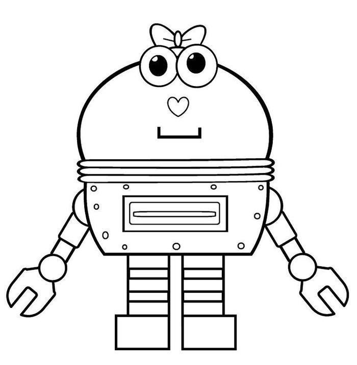 Cartoon Robots Coloring Pages