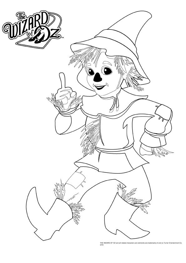 Cartoon Wizard Of Oz Coloring Pages For Kids
