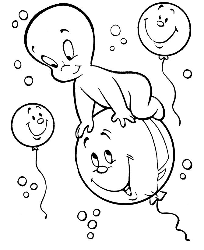 Casper Halloween Coloring Pages For Little Kids