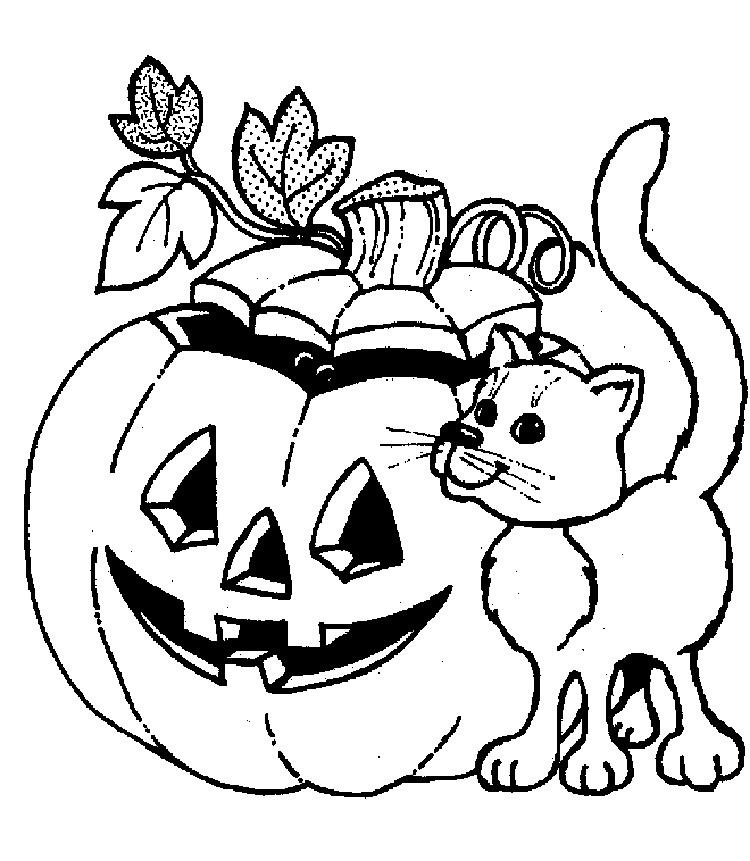 Cat Coloring Pages For Halloween