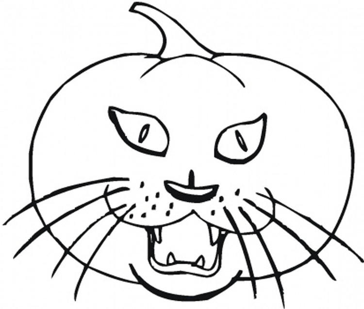 Cat Printable Halloween Coloring Pages