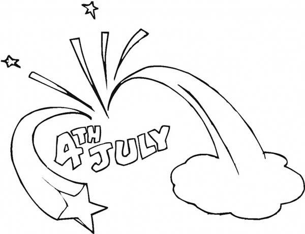 Celebration Of 4th July Independence Day Coloring Page