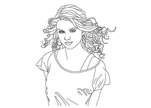 Celebrity Taylor Swift Coloring Pages