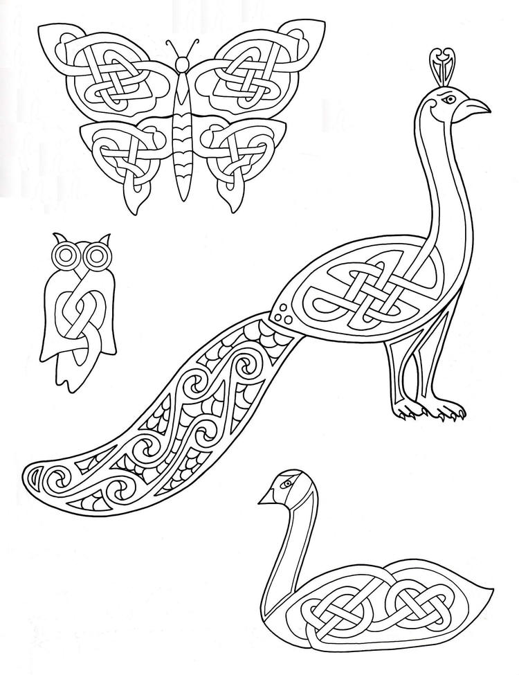 Celtic Animals Coloring Pages