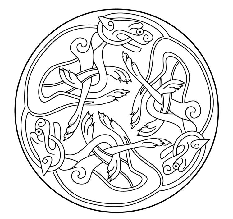 Celtic Coloring Pages Free To Print